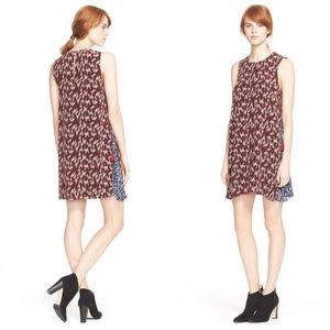 Elizabeth & James dayne print silk shift dress